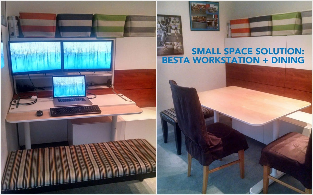 hot sale online af5df 571f1 BESTÅ Hidden Office/ Dining Bench - IKEA Hackers