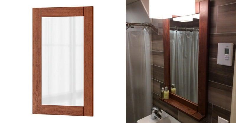 Transform An Ikea Filipstad Glass Door In A Nice Framed Mirror