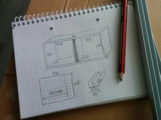 Plan for a double sliding doors BESTÅ