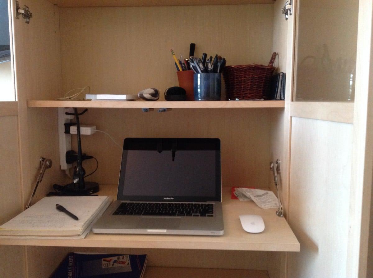 Secret BILLY Bureau   the stealthy bookshelf desk   IKEA Hackers