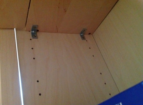 Attach shelf as desk