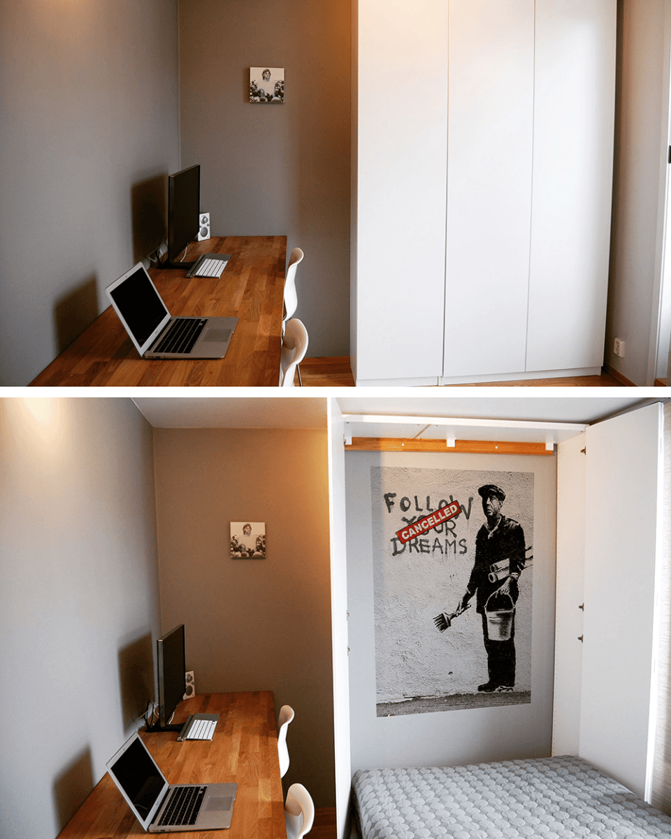 Excellent We Hid A Full Size Murphy Bed In Our Ikea Closet Ikea Hackers Beatyapartments Chair Design Images Beatyapartmentscom