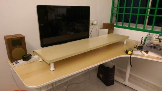 10cm lift Desk Shelf Monitor Stand IKEA Hackers IKEA