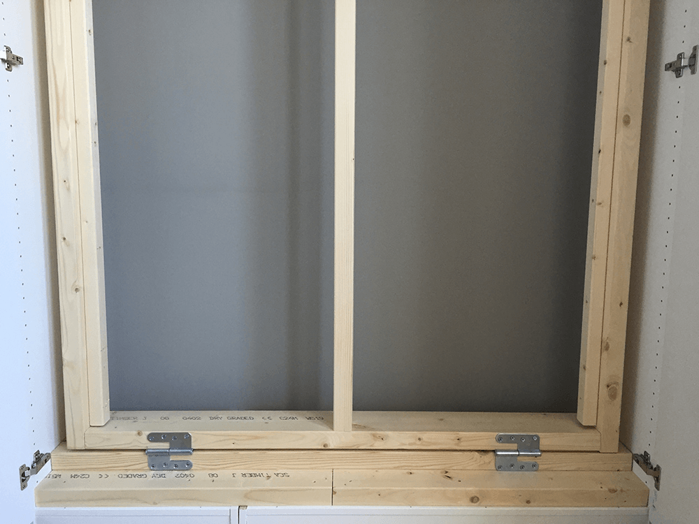 The Bed Frame With Hinges To Attach It Bottom