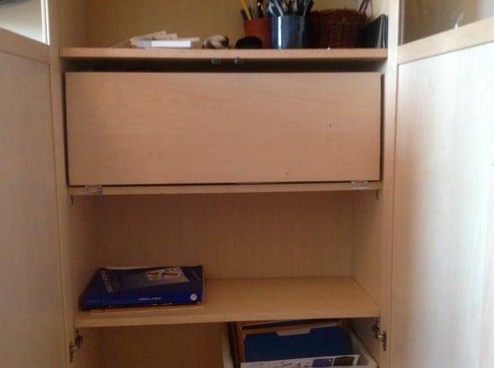 Bookshelf Desk folded up