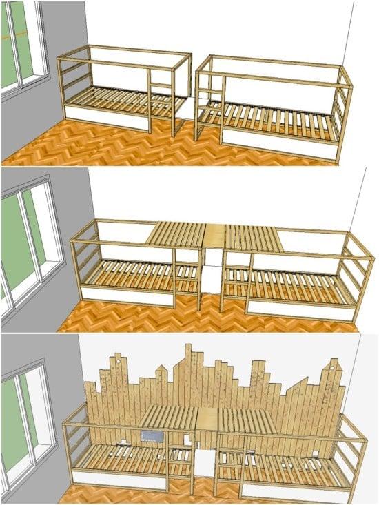 Ikea Kura triple deck - plans