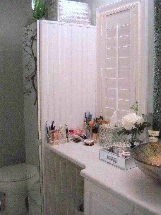 Narrow bathroom cabinet with tons of storage ikea hackers - Narrow width bathroom vanity ...
