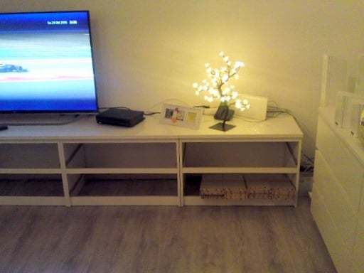 Hack a long low media unit with 5 MALM dressers