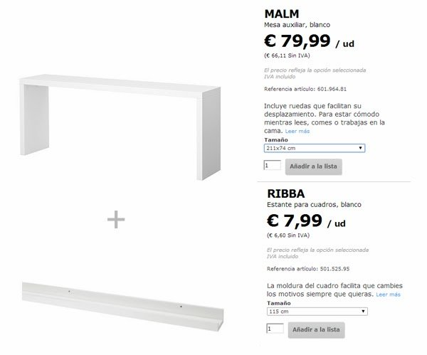 Double workstation with malm and ribba ikea hackers - Mesa auxiliar malm ikea ...