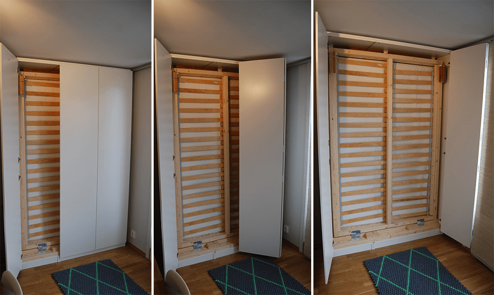 Hack a pax murphy bed ikea hackers for Armoire lit escamotable ikea