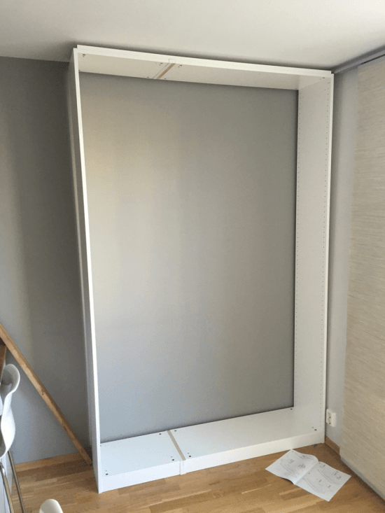 Splice 2 PAX wardrobes to make the frame
