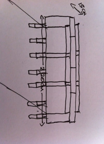 Sketch of headboard plan