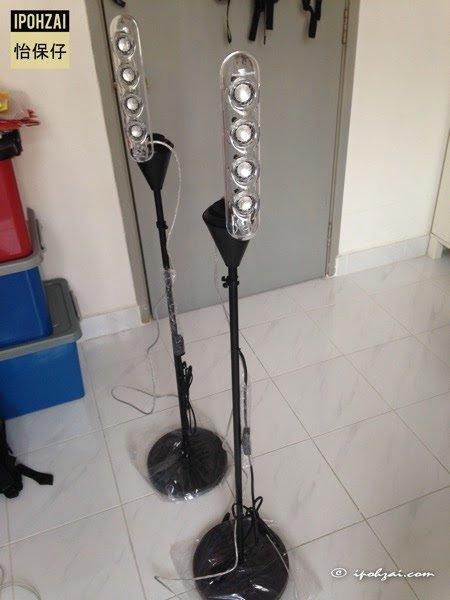 IKEA NOT floor uplighter as Harmon Kardon Soundstick stand