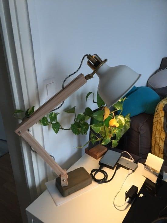 11-IKEA RANARP Wood Industrial Desk Lamp