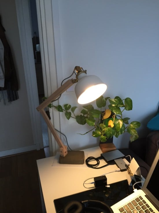 IKEA RANARP Wood Industrial Desk Lamp