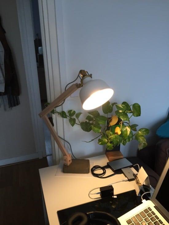 IKEA RANARP Wood Industrial Desk Lamp