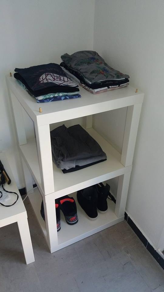 Lack Side Table Stacked As Simple Shelving