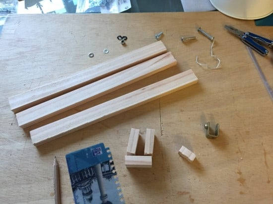 Making the wooden arm
