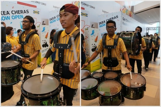 IKEA Cheras drum band