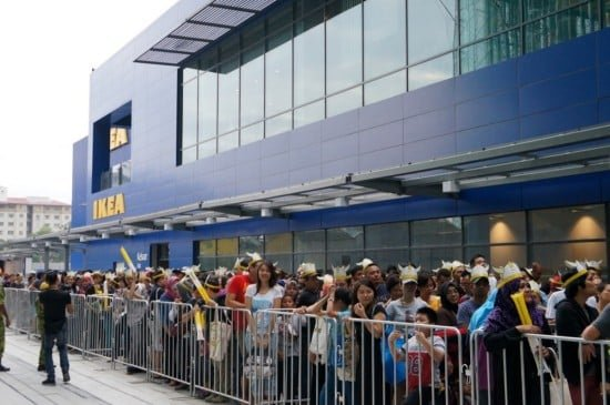 The crowd waiting for IKEA Cheras to open