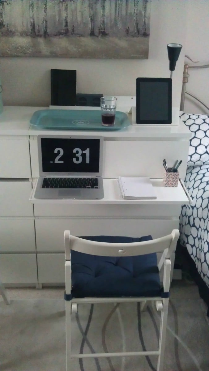 MALM pull out desk