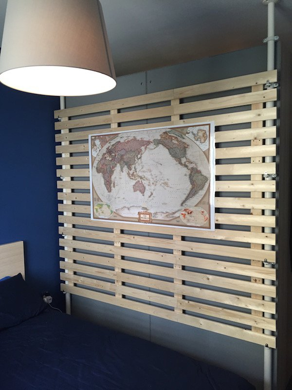Multi purpose wooden partition from stolmen and lade ikea hackers ikea ha - Coussins tete de lit ikea ...