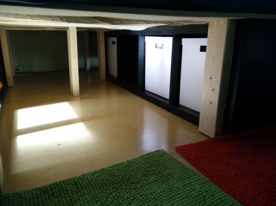 Kallax bed legs for underbed storage