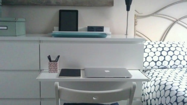 Malm Chest Gets A Pull Out Laptop Table Ikea Hackers