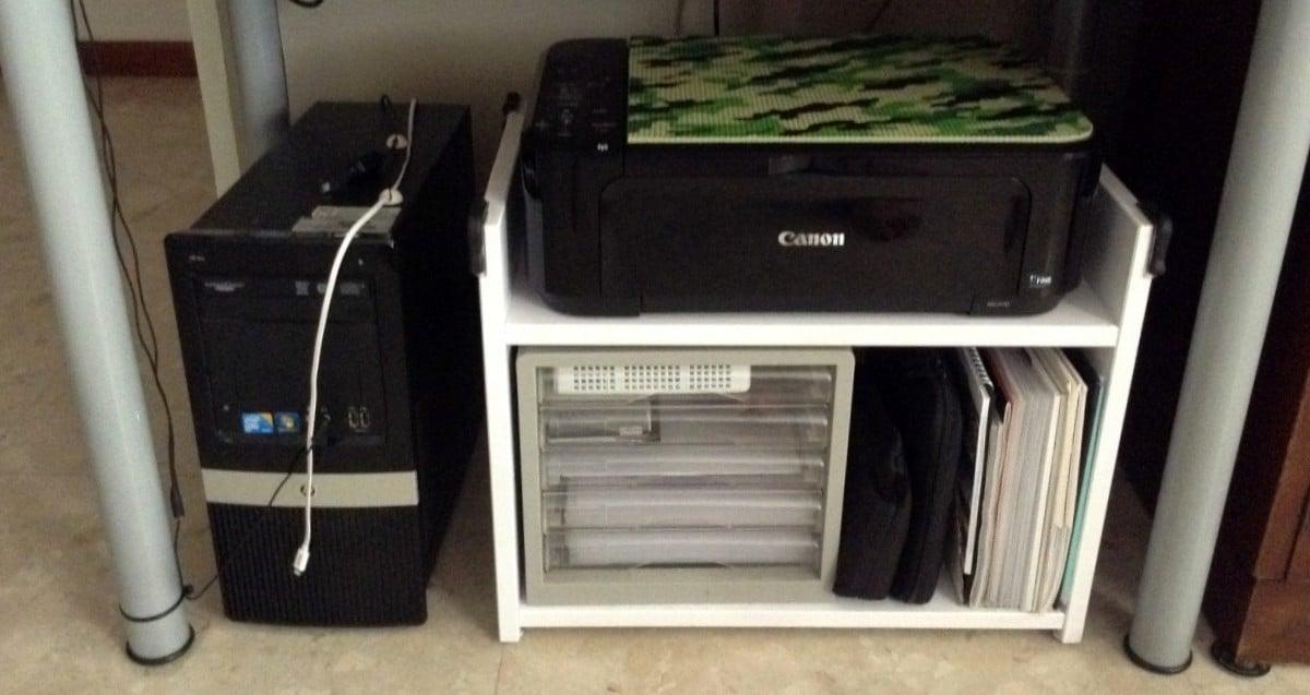 Rast Bedside Table To White Under Desk Mobile Printer Rack
