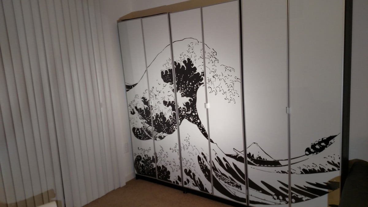 Turn Billy Bookcases Into Bold Large Wall Art Ikea Hackers