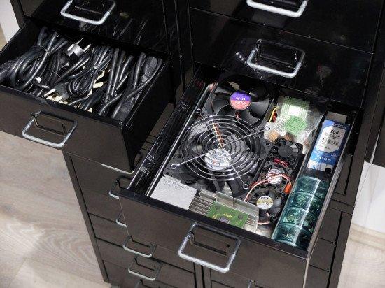 computer accessories storage