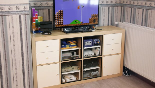 How To Make An Expedit Retro Gaming Cabinet Ikea Hackers