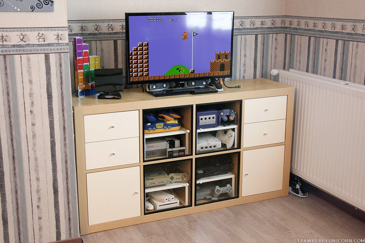 how to make an expedit retro gaming cabinet. Black Bedroom Furniture Sets. Home Design Ideas
