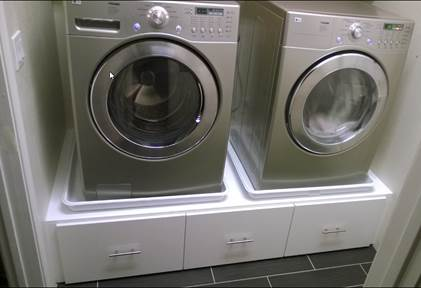 pedestal white laundry for tile pedestals dryer dimensions painting alternative completing alternatives plans lg stand up and washer after