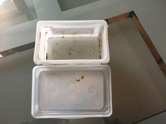 plastic box as concrete mold