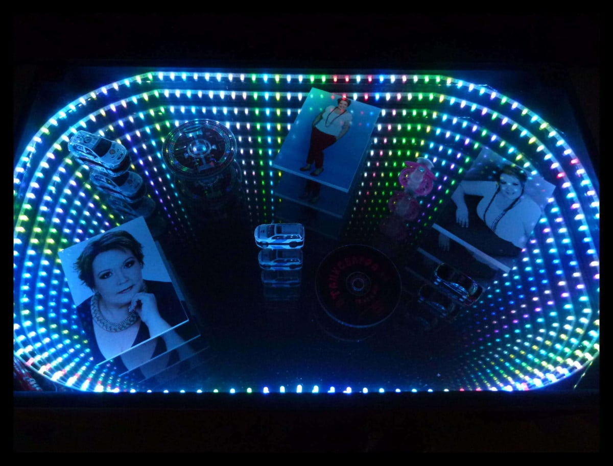 Ikea Infinity Mirror In A Lack Coffee Table