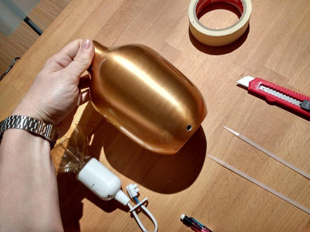 Turn a Vase into a copper bedside lamp - IKEA Hackers - IKEA Hackers