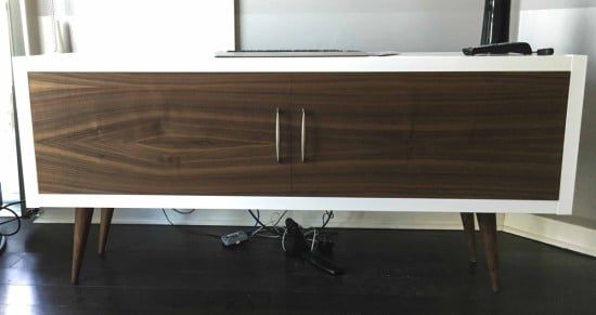 Mid Century Modern Kallax with walnut face