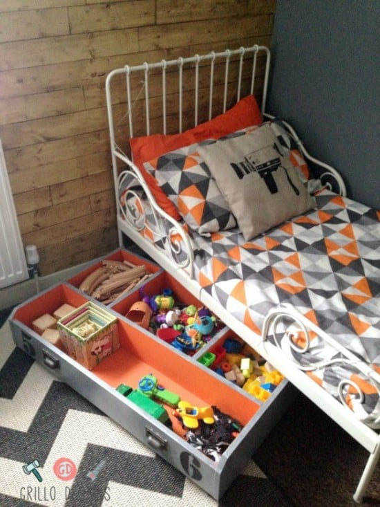 IKEA PAX drawer to under bed toy storage box on wheels