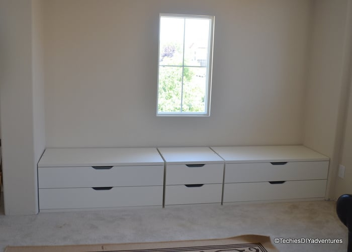 Window Seat With Storage Using IKEA Stolmen Drawers