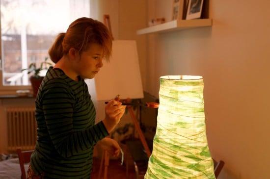 Duderö lamp pimped with papier mâché