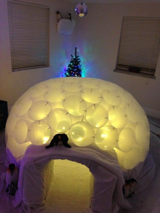 Santa's Igloo lit