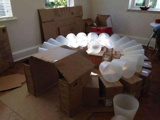 Setting the FNISS wastepaper baskets