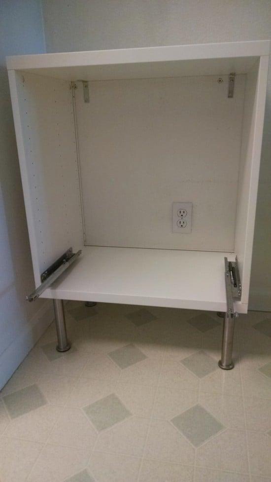 IKEA BESTA as trash and recycle bin