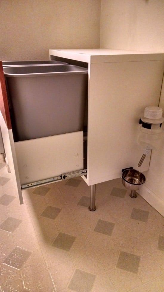 Dog Proof Recycle and Trash Cabinet