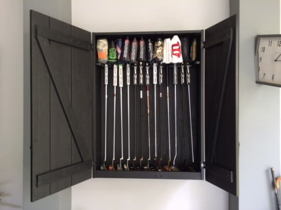 Golf Putters Display Cabinet