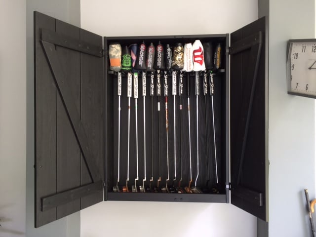 Golf Putters Display Cabinet - IKEA Hackers - IKEA Hackers
