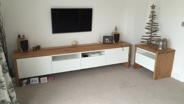 Best 197 Tv Unit With Oak Wrap Around Ikea Hackers Ikea