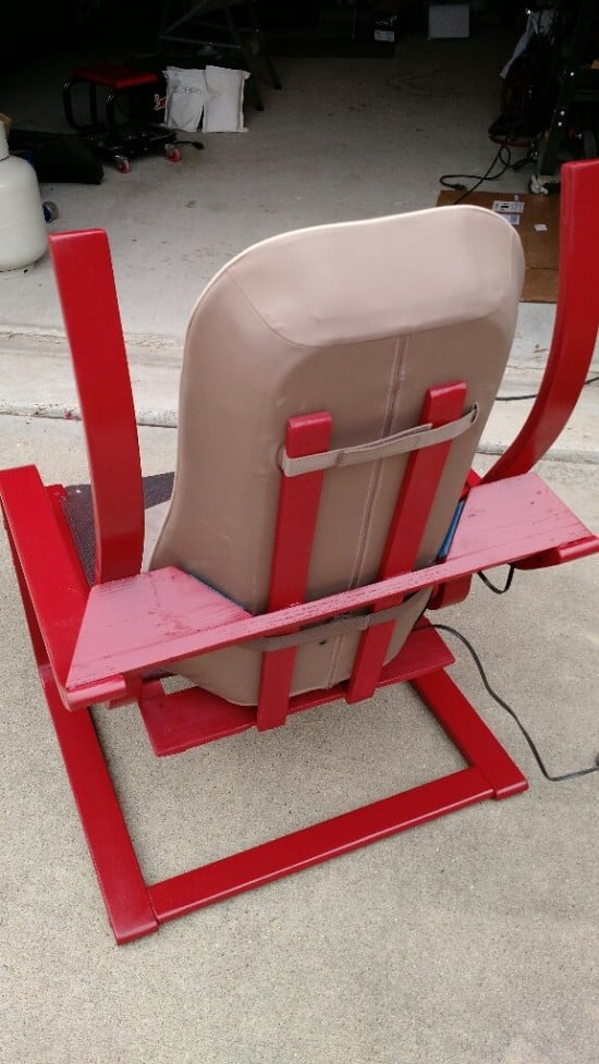 Poang massage chair - back