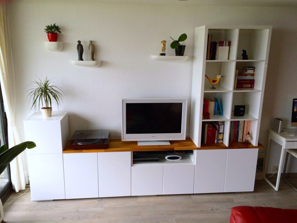 Tv Unit From Ikea Metod Kitchen Cabinets Ikea Hackers